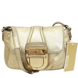 MICHAEL Michael Kors Charlton Gold crossbody bag